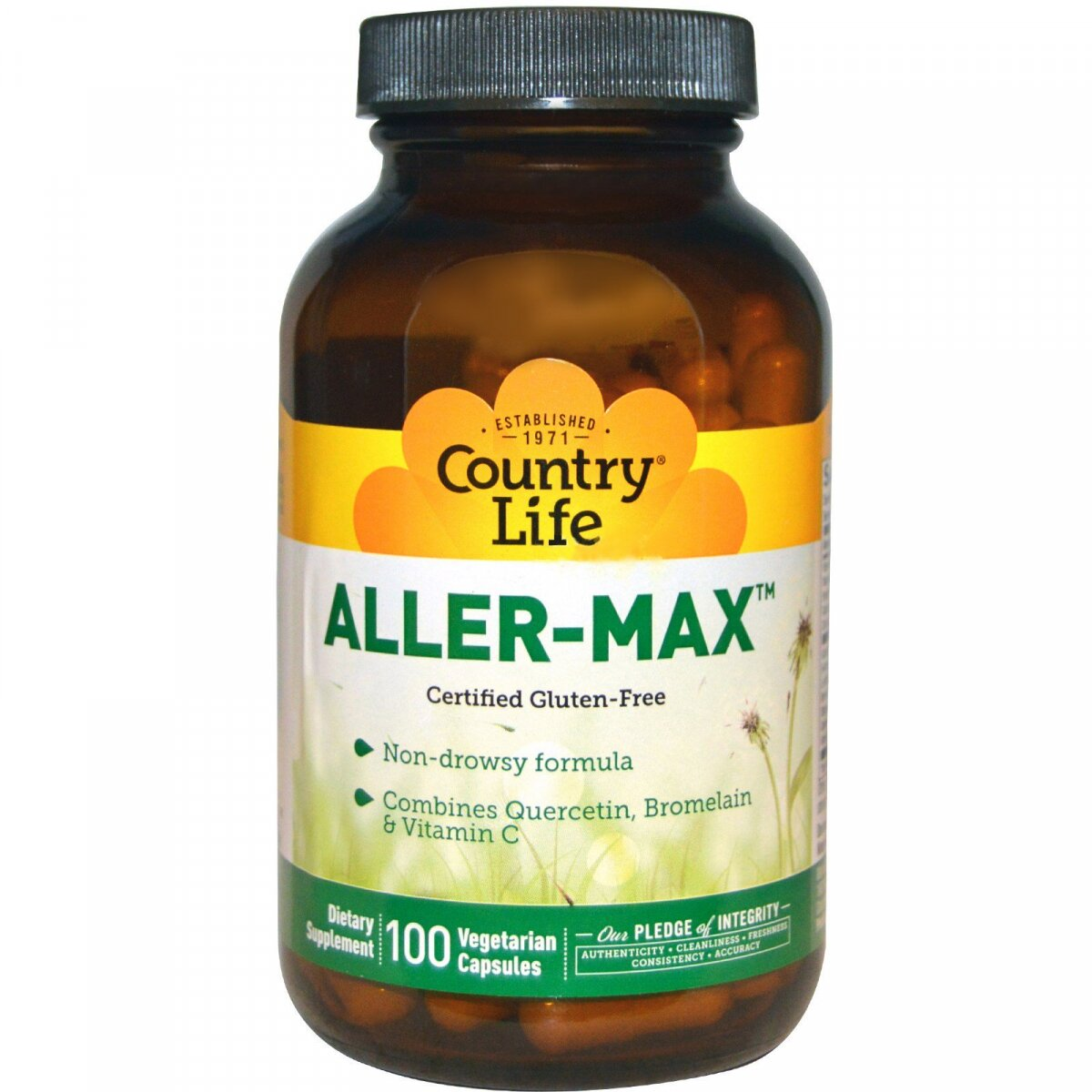 Aller-Max, Country Life, 100 вегетарианских капсул