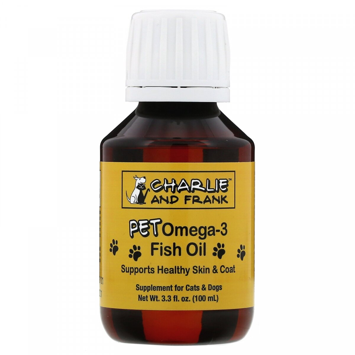 Pet Omega-3 Рыбий жир, для кошек и собак, Pet Omega-3 Fish Oil, For Cats & Dogs, Charlie & Frank, 100 мл