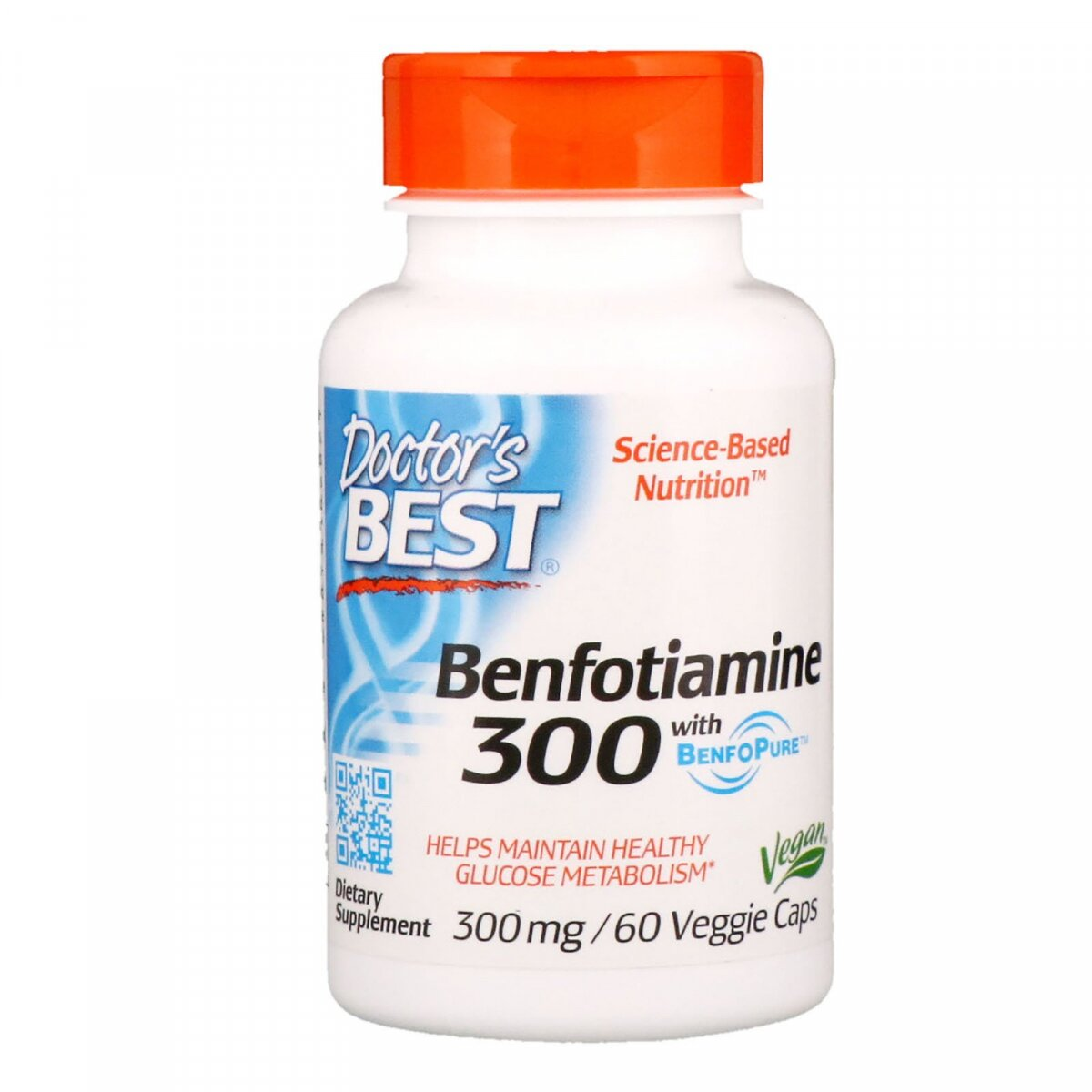 Бенфотиамин с BenfoPure, Doctor's Best, 300 мг, 60 вегетарианских капсул
