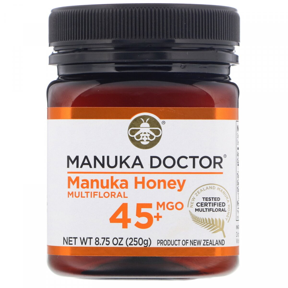 Манука мед 15+, Manuka Honey, Manuka Doctor, Apiwellness, 250 г