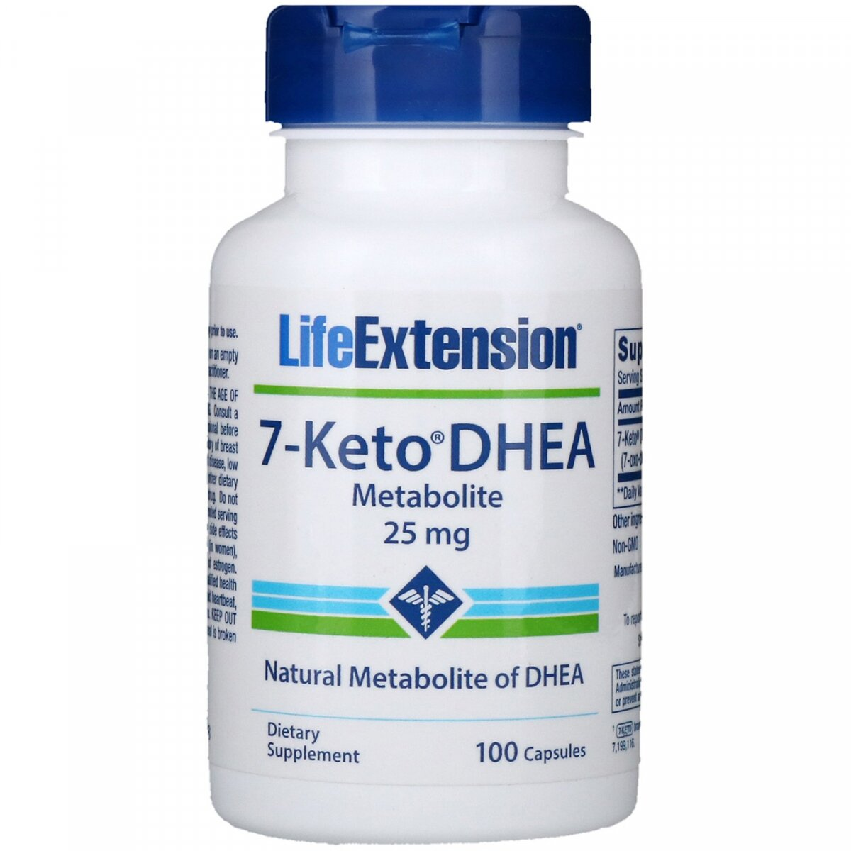 7-Keto DHEA, метаболит, Life Extension, 25 мг, 100 капсул