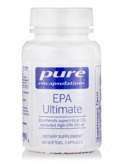 ЕПА Основной, EPA Ultimate, Pure Encapsulations, 60 Капсул