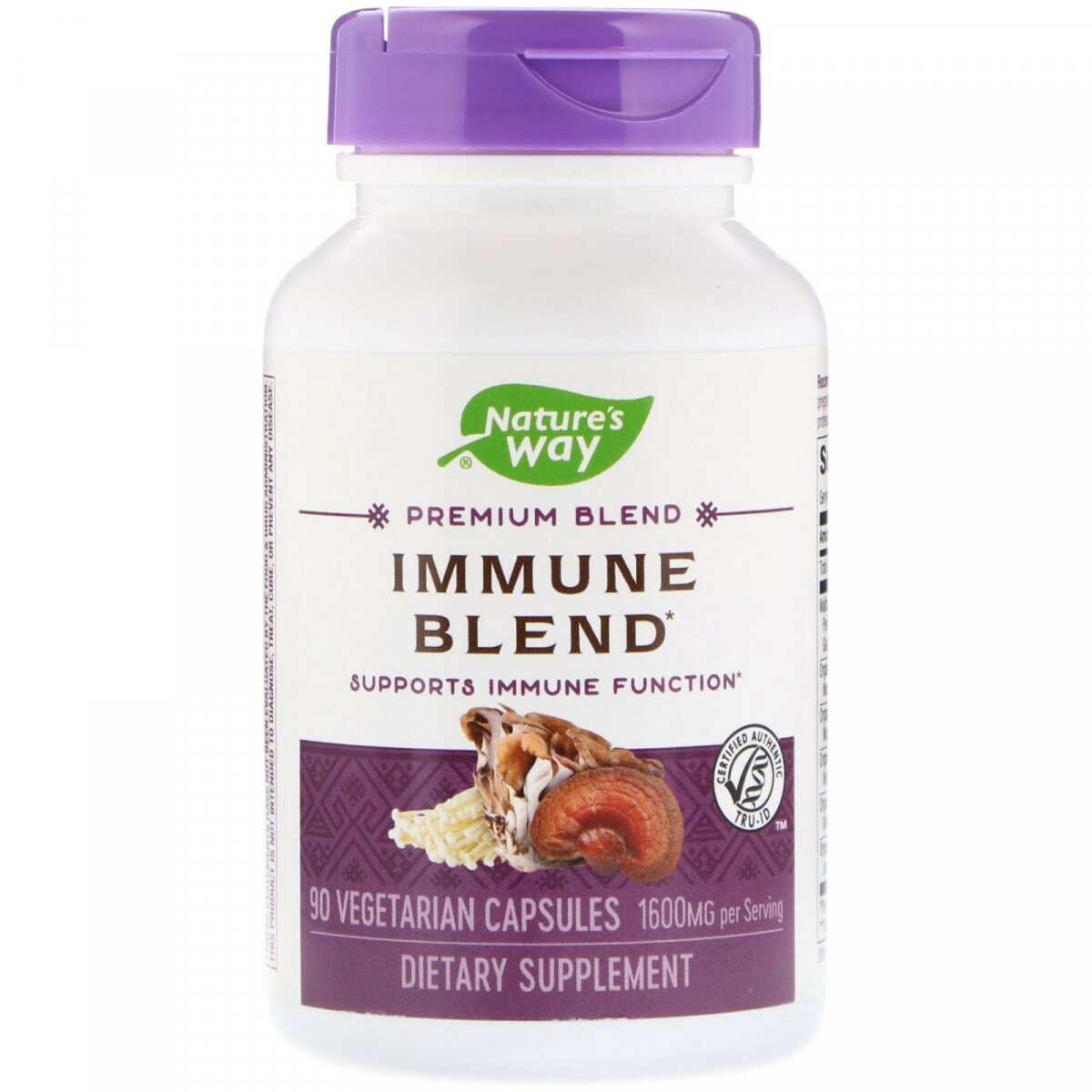 Иммунная смесь, Immune Blend, Nature's Way, 1600 мг, 90 вегетарианских капсул