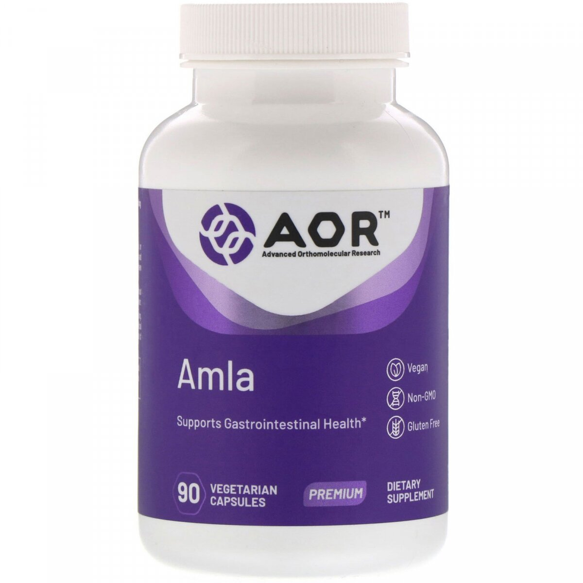 Амла, AMLA, Advanced Orthomolecular Research AOR, 90 вегетарианских капсул
