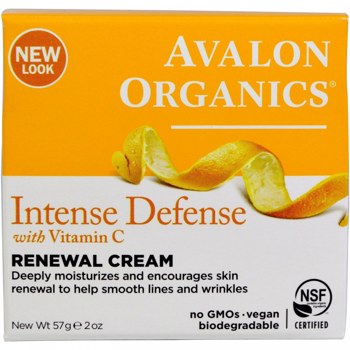 Крем Intense Defence Renewal Cream с витамином C, Avalon Organics, 57 г (2 унции)