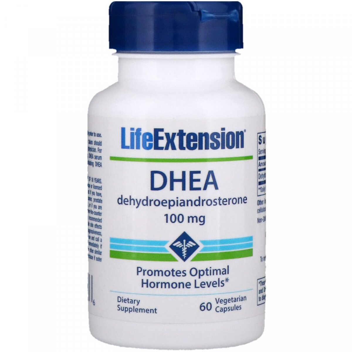 DHEA (ДГЭА), Life Extension, 100 мг, 60 вегетарианских капсул