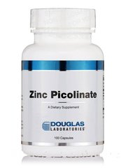 Пиколинат цинка, Zinc Picolinate,, Douglas Laboratories, 100 капсул