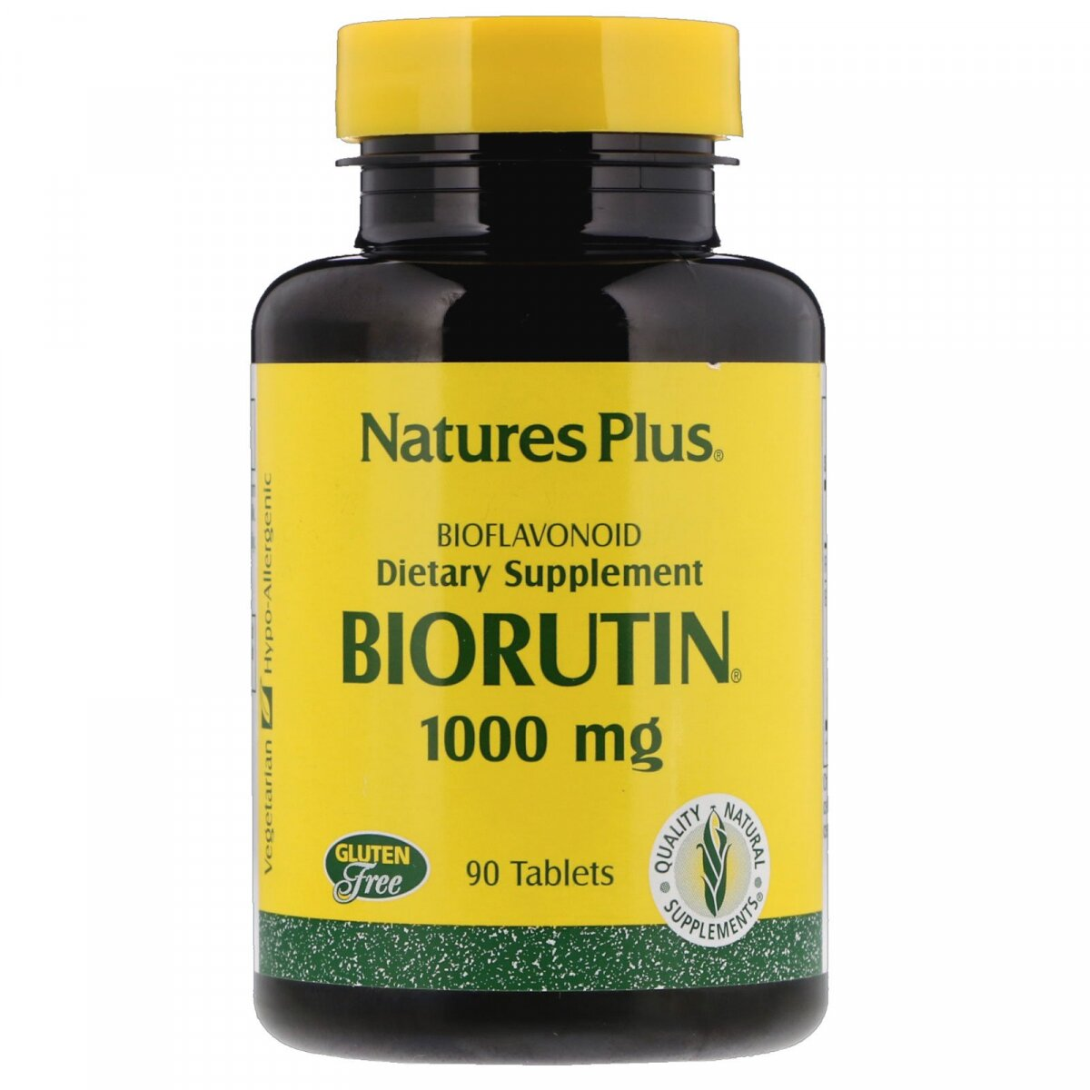 Биорутин, Biorutin, Nature's Plus, 1000 мг, 90 таблеток