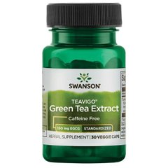 Экстракт зеленого чая Теавиго 90% ЕГГГ, Teavigo Green Tea Extract 90% EGCG, Swanson, 30 капсул