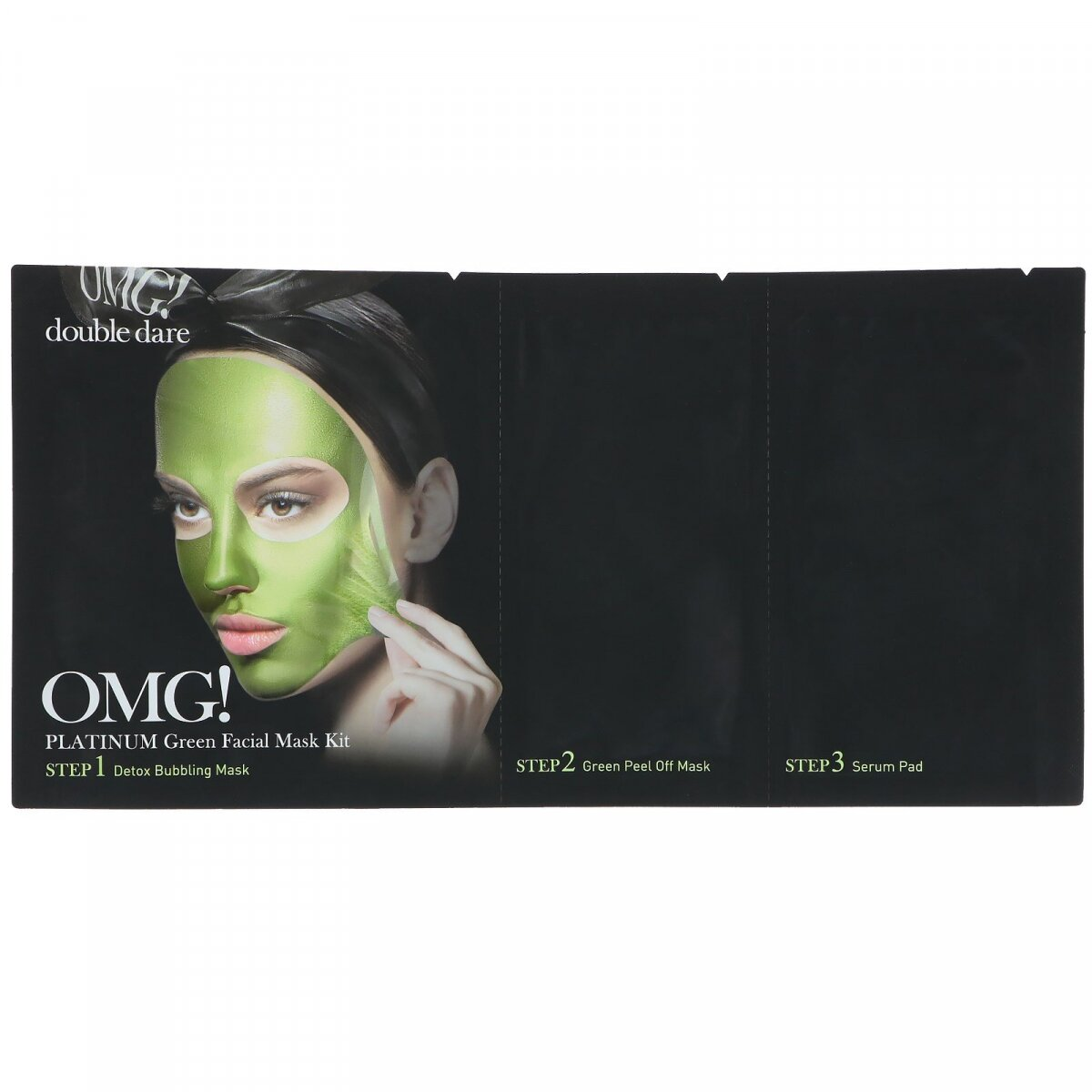 OMG !, Платиново-зеленая маска для лица, OMG!, Platinum Green Facial Mask Kit, Double Dare, 1 набор